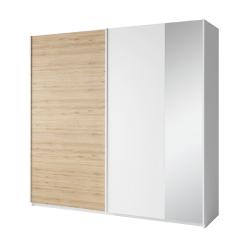 2-dverová skriňa, biela/dub divoký, SIMPLA