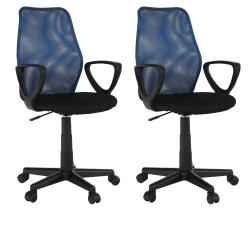 2 kusy, kancelárska stolička, modrá/čierna, BST 2010 NEW