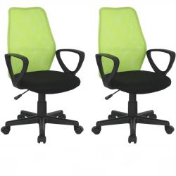 2 kusy, kancelárska stolička, zelená/čierna, BST NEW 2010