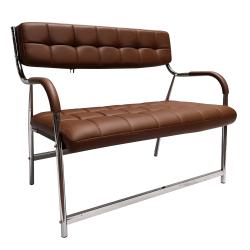 2-miestna lavica do čakární, hnedá/chróm, ILKIN