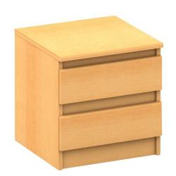 2 šuplíkový nočný stolík,  buk, HANY 002