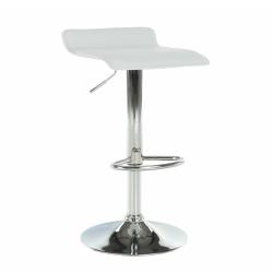 Barová stolička, ekokoža biela/chróm, LARIA NEW, poškodený tovar
