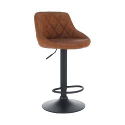 Barová stolička, ekokoža koňaková/čierna, TERKAN