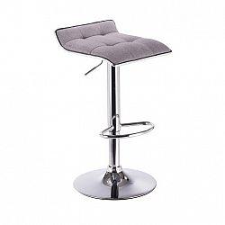 Barová stolička, sivá/chróm, FUEGO