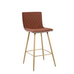 Barová stolička, svetlohnedá/hnedá/buk, TORANA