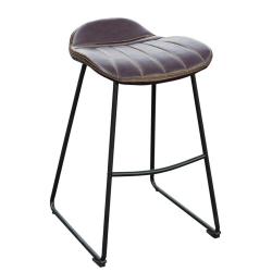 Barová stolička, tmavohnedá/čierna/kov, CANDEL