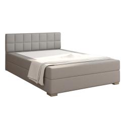 Boxpringová posteľ 120x200, sivohnedá TAUPE, FERATA KOMFORT