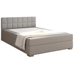 Boxpringová posteľ 140x200, sivohnedá TAUPE, FERATA KOMFORT