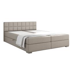 Boxpringová posteľ 160x200, sivohnedá TAUPE, FERATA KOMFORT