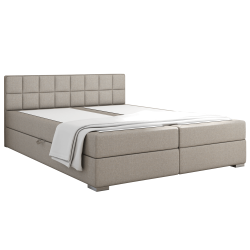 Boxpringová posteľ 180x200, sivohnedá TAUPE, FERATA KOMFORT