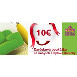Darčeková poukážka v hodnote 10 EUR
