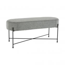 Dizajnová lavica, sivá/čierna, MATIR