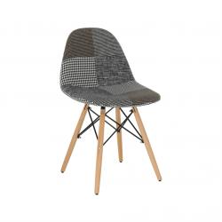 Dizajnová stolička, látka patchwork, PEPITO TYP 9