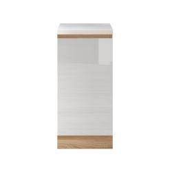Dolná skrinka D 40, vysoký biely lesk/dub sonoma, LINE
