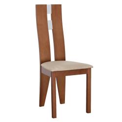 Drevená stolička, čerešňa/látka béžová, BONA, poškodený tovar