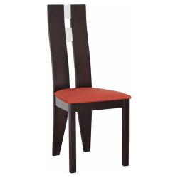 Drevená stolička, wenge/terakota, BONA