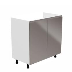 Drezová skrinka, biela/sivá extra vysoký lesk, AURORA D80Z