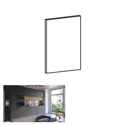 Dvierka na umývačku riadu, sivý mat, 59,6x57 cm, LANGEN