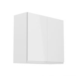 Horná skrinka, biela/biely extra vysoký lesk, AURORA G80