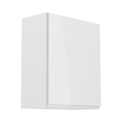 Horná skrinka, biela/biely extra vysoký lesk, pravá, AURORA G601F, poškodený tovar