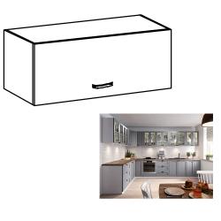 Horná skrinka, biela/sivá matná, LAYLA G80K