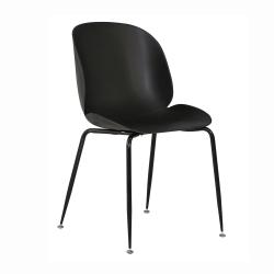 Jedálenská stolička, čierna, MENTA