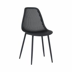 Jedálenská stolička, čierna, TEGRA