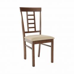 Jedálenská stolička, orech/béžová, OLEG NEW, rozbalený tovar