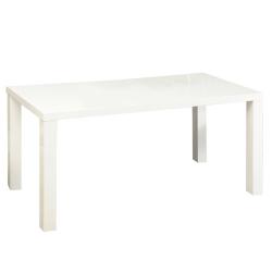 Jedálenský stôl, biela vysoký lesk HG, ASPER  NEW TYP 2