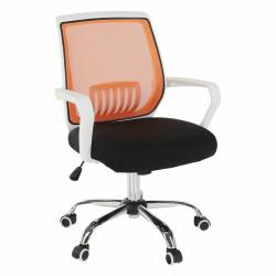 Kancelárske kreslo, čierna/oranžová, LANCELOT