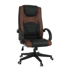 Kancelárske kreslo, hnedá/čierna, BADY