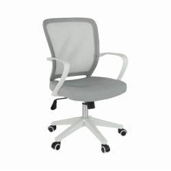 Kancelárske kreslo, sivá/biela, GLAM