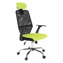 Kancelárske kreslo, zelená/čierna, REYES
