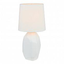 Keramická stolná lampa, biela, QENNY TYP 1 AT15556