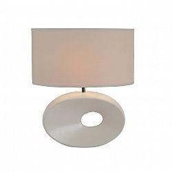 Keramická stolná lampa, biela, QENNY TYP 9 AT09115