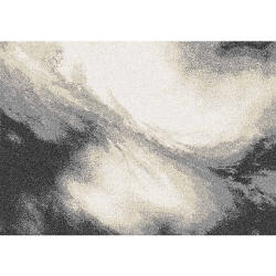 Koberec, biela/hnedá/čierna, 133x190 TOCAR