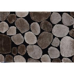 Koberec, hnedá/čierna, 80x150, PEBBLE TYP 2
