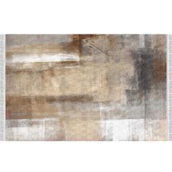 Koberec so strapcami, hnedá/sivá, 160x230, ESMARINA TYP 1