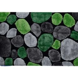 Koberec, zelená/sivá/čierna, 80x150, PEBBLE TYP 1