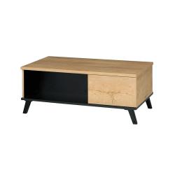 Konferenčný stolík, dub lefkas/čierna, SIRAN TYP 8