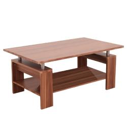 Konferenčný stolík, svetlý orech/strieborná, ROKO