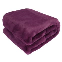 Kožušinová deka, fialová, 150x180, RABITA NEW TYP 6