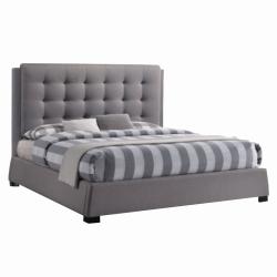 Manželská posteľ, sivá, 160x200, EVENT