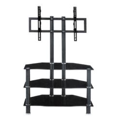 Moderný TV stolík, čierna, ROSS