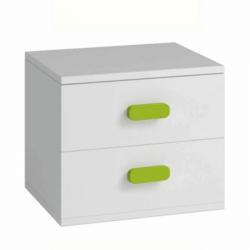 Nočný stolík, bez úchytiek, biela, SVEND TYP 22