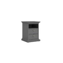 Nočný stolík, sivá, PARIS 70302