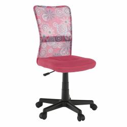 Otočná stolička, ružová/vzor/čierna, GOFY, rozbalený tovar