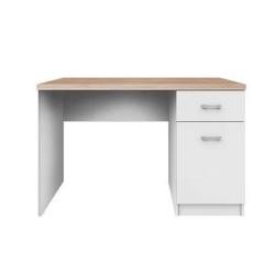 PC stôl 1D1S, biela/dub sonoma, TOPTY TYP 09