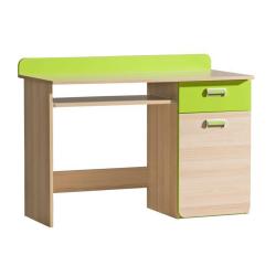 PC stôl, jaseň/zelený, EGO L10