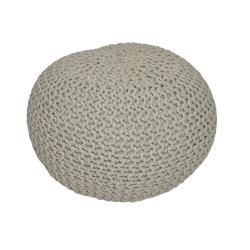Pletený taburet, hnedosivá bavlna, GOBI TYP 1